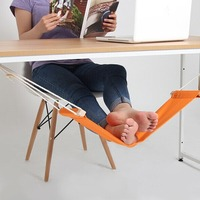 V1NF 60 16cm Office Foot Rest Stand Desk Feet Hammock Easy To Disassemble Study Indoor Orange
