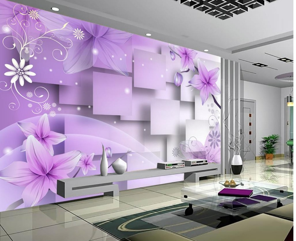 Custom 3d mural Continental bedroom living room wall background 3D fantasy 3d stereoscopic
