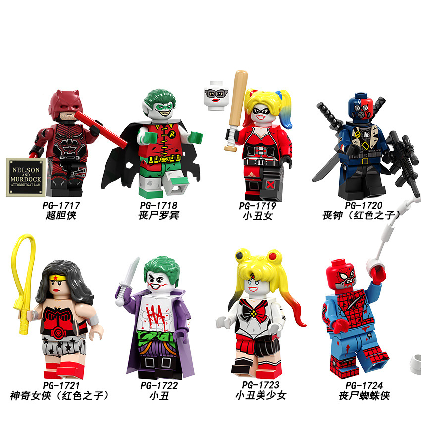Marvel Horror Film Harley Quinn Death Jason Building Block Toys Gift New 2019