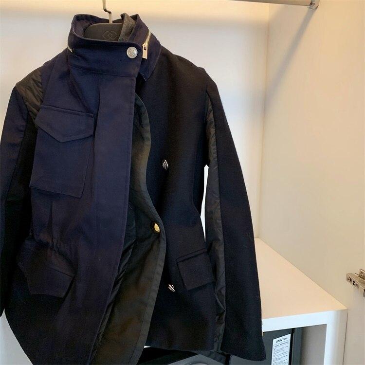 Patchwork Coréenne Faux Matelassé Coton Version Outwear Et Épais Lâche Femelle Court Deux D'hiver Veste Femmes Piece Laine 075WgqwH