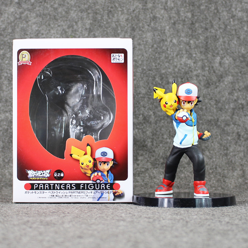 5.5''13.5cm Figure Ash Ketchum Kids Toy PVC Partners Action Figure Resin Collection Model Doll Gifts Doll partners cd