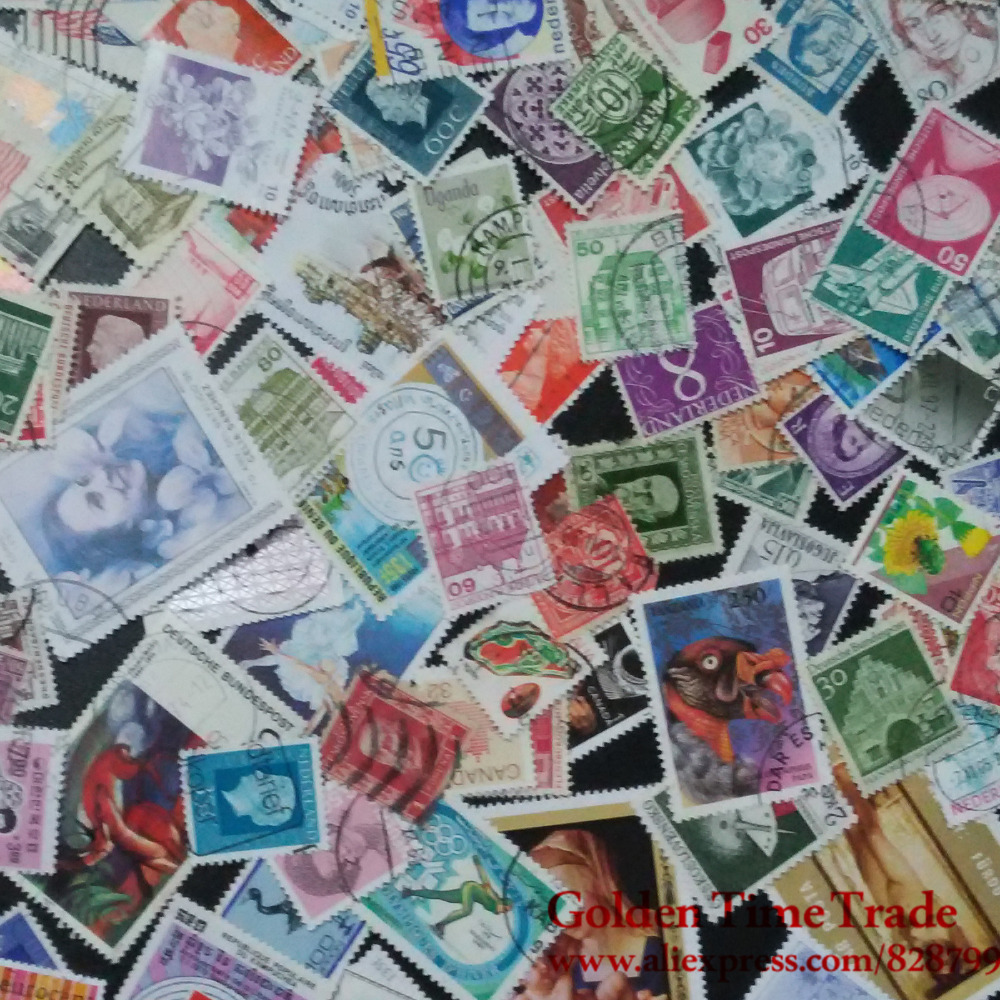 100 PCS / Lot Used World Wide Postage Stamps With Post Mark For Collection used 100
