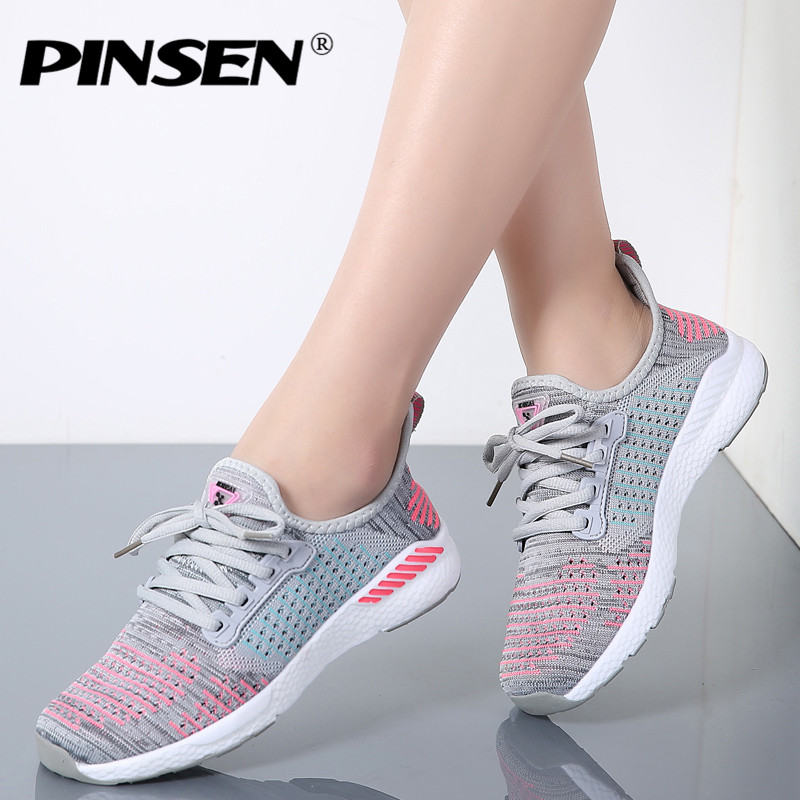 PINSEN 2018 Fashion Sneakers Women