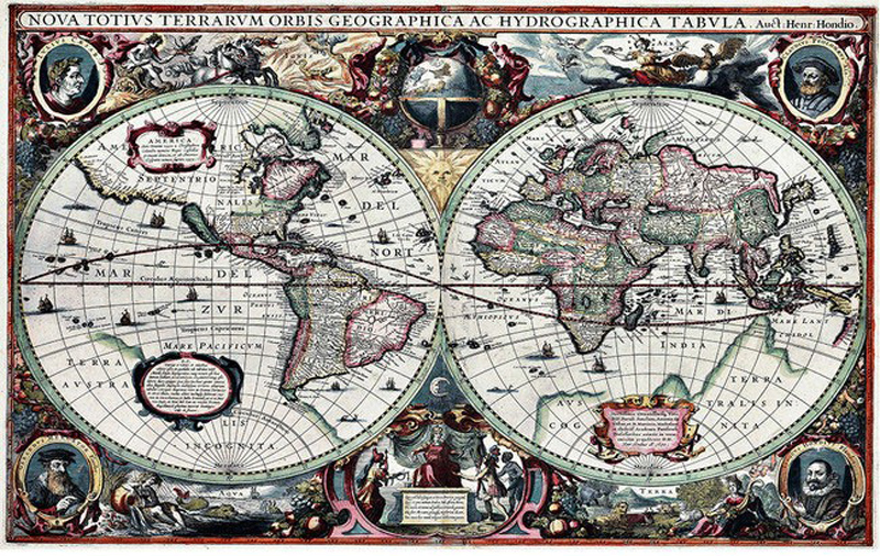 Large nautical world map household 3d wall cover decor room large nautical world map household 3d wall cover decor room wallpaper for wall 3 d livingroom apartment tv non woven backdrop in wallpapers from home gumiabroncs Image collections