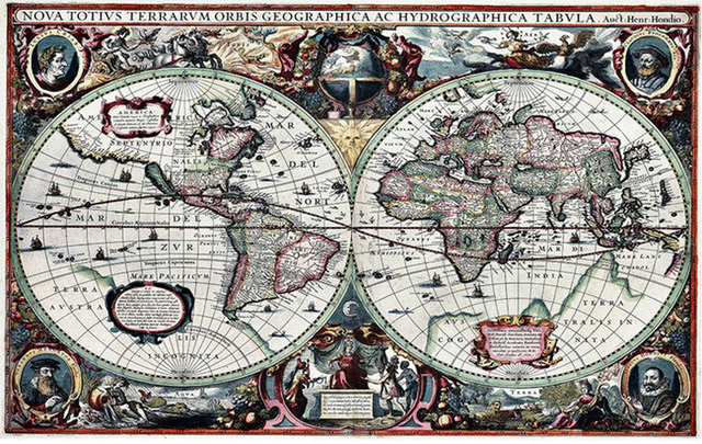 Large nautical world map household 3d wall cover decor room large nautical world map household 3d wall cover decor room wallpaper for wall 3 d livingroom gumiabroncs Gallery