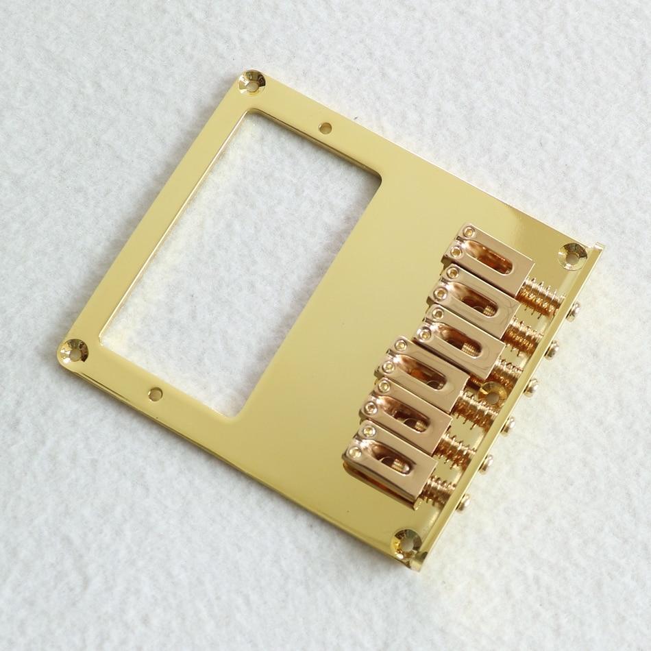 DIY guitar parts gold color TL guitar bridge for humbucker ...