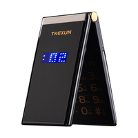 Men Flip Touch Big Screen 3.0 Display Business Telephone Quick SOS Key Metal Body Senior Non smart Mobile Cell Phone M2 P302