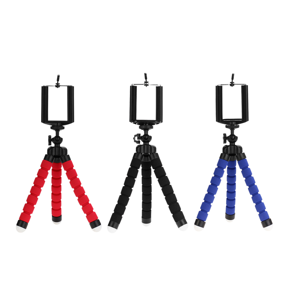 Tripods tripod for phone Mobile camera holder Clip smartphone monopod tripe stand octopus mini tripod stativ for phone lightweight aluminum mini tripod 4 sections universal camera tripod camera stand photo tripod gorillapod tripe