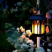Vintage LED Solar Lantern Lights Outdoor Hanging Light Candle Lantern Solar Powered Garden Lamp For Garden Lawn Patio