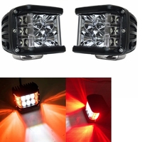 Pair Offroad 90W Amber/red/ Blue Side light Shots POD Cubes white light LED Spot Light For Jeep TJ JK FJ Motorcycle