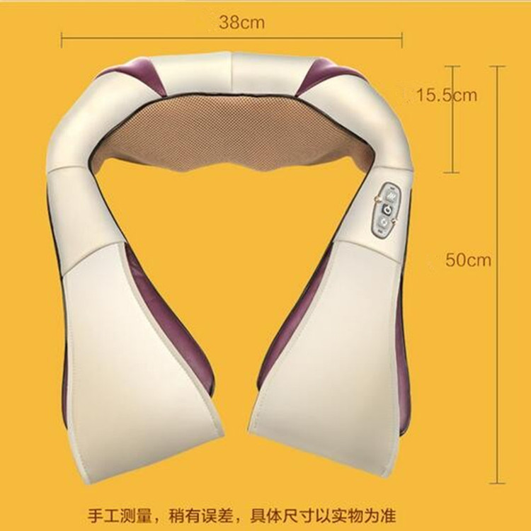 ФОТО Multifunction health care car home pillow massager acupuncture kneading heating neck shoulder massage anti cellulite M016