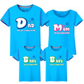 2017 Summer Family Look Cotton Family Matching Shirts Pattern Letter Short-Sleeve Father Son Shirts Fashion Family Clothing