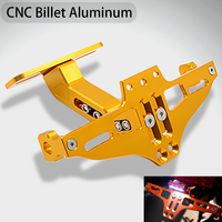 Motorcycle Adjustable Angle Aluminum License Number Plate Holder Bracket For Yamaha R1 R3 FZ1 FZ6 XJ6 TMAX 500 530 DX SX TMAX500