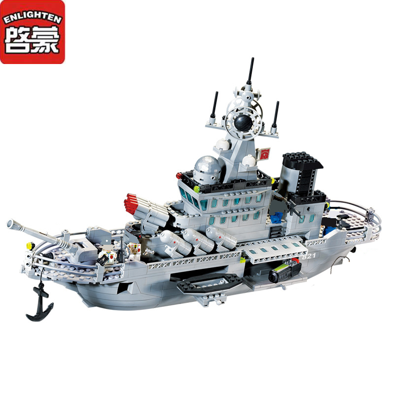 New Children Blocks Toys Military Series Missile Cruiser Blocks Toys Assembled Model Building Kits Educational DIY Toys for Kids single sale marvel building blocks assembled baby diy toys legoelieds minifigures military engineering series blocks toy