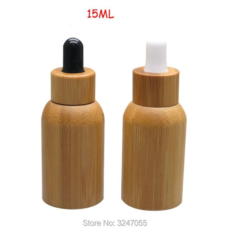 15ML 20pcs/lot High-end Elegant Empty Dropper Bottle, Bamboo Glass Superior Grade Essential Oil Container, Makeup Tool 50pcs lot high grade 30ml essential oil empty bottles with natural bamboo glass tank all bamboo dropper bottle essence liquid
