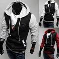 Новый 2016 Весна и Осень Моды Случайные Тонкий Кардиган Assassin Creed Толстовки Толстовка Верхняя Одежда Куртки Мужчин, Размер M-XXL, B63