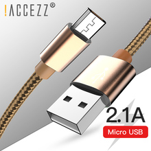 !ACCEZZ Micro USB Cable Fast Data Sync Charging Cables For Samsung S7 S6 Xiaomi Redmi Note 5 LG Android Mobile Phone Charge Cord