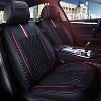 Кожаные сиденья авто чехлы сидений для Mitsubishi Pajero 3 4 Полный Спорт carisma Montero Outlander 3XL 2005 2004 2003 2002