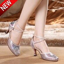 Взрослых Женщин Танцевальная Обувь Salsa Танго Танцевальная Обувь Для Женщин 5.5 СМ Каблук Высота Бальные Танцевальная Обувь 6417