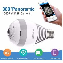 360 CCTV Camera 1080P IP Camera Wifi Bulb Panoramic Cameras 960P Camara IP Fisheye Video Surveillance Cameras(China)