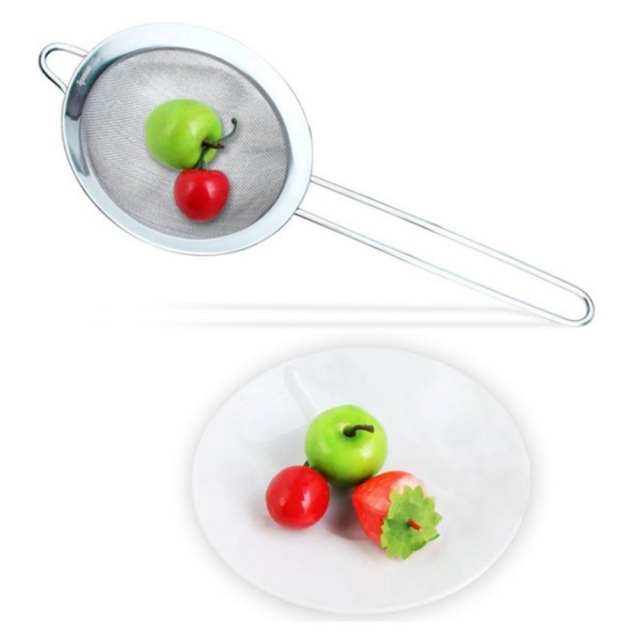 High quality stainless steel kitchen tools Mesh Oil Colander