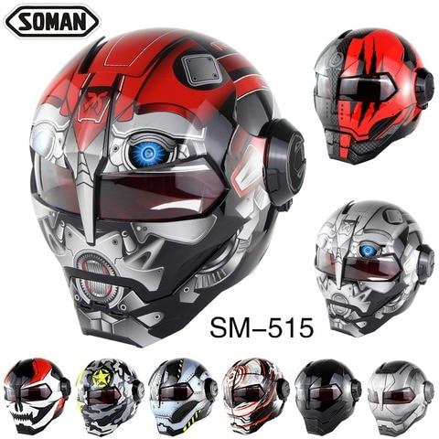 soman motocicleta capacete homem de ferro estilo motor bike seguranca casco do capacete motocross monstro