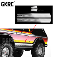 스테인레스 스틸 사이드 스커트 1/10 rc 크롤러 trx4 t4 ford bronco 용 안티 스크래치 플레이트