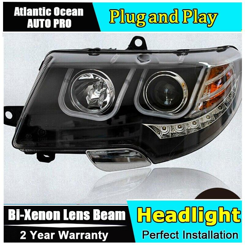 Car Styling LED Head Lamp for Skoda Superb headlights 2009-2014 Superb drl Automobile HID KIT Bi-Xenon Lens angel eyes low beam