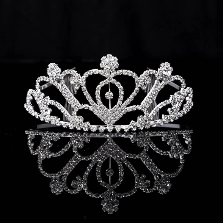 Cross-border For Fashion Bridal Crown Han Edition Style Manual Diamond Crown The Bride Crown Custom