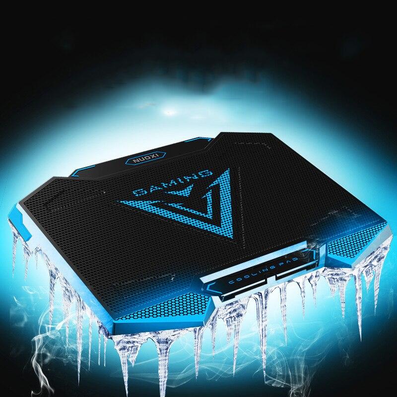 5 haute vitesse ventilateur refroidisseur d'ordinateur portable double USB cinq fichier réglage muet notebook cooler Pour 12-17 pouces pour ordinateur portable