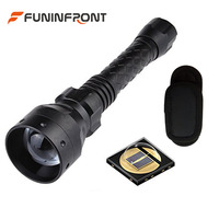 T50 50MM Lens IR 850NM Infrared Flashlight Night Vision Torch Light, Universal Flashlight Pouch Holder with 180 Degree Belt Clip