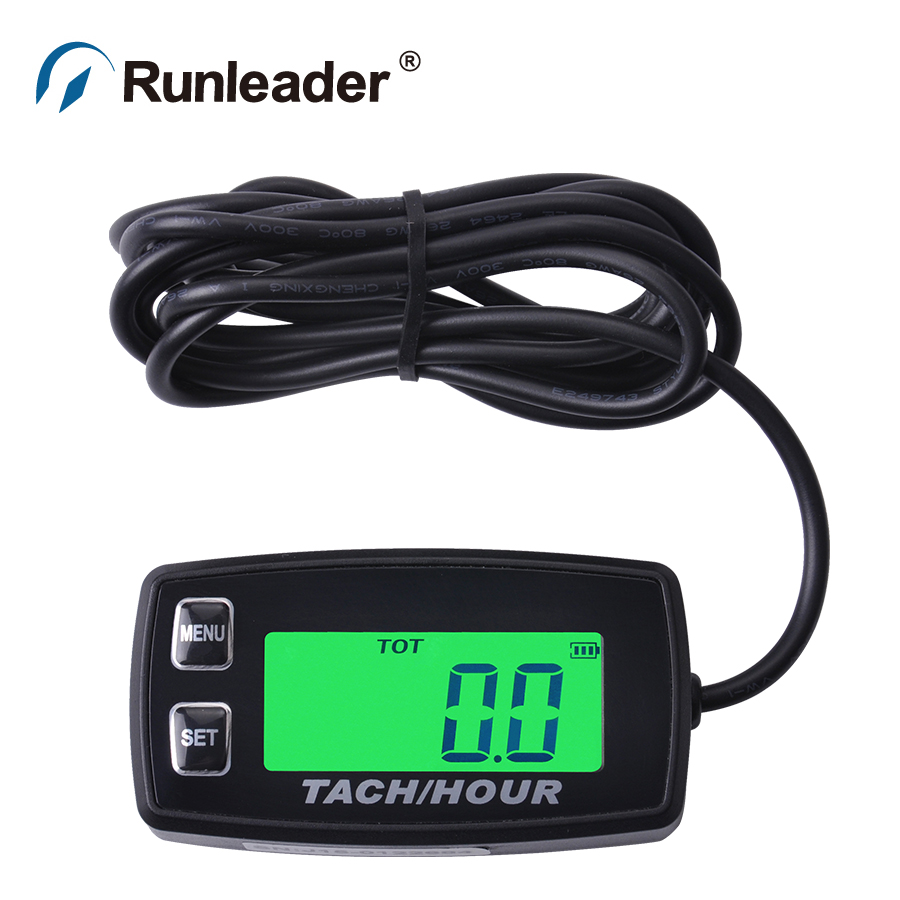 Resettable Inductive LCD Tacho Hour Meter counter for engine motocross motorcycle jet ski jet boat outboard generator chainsaw