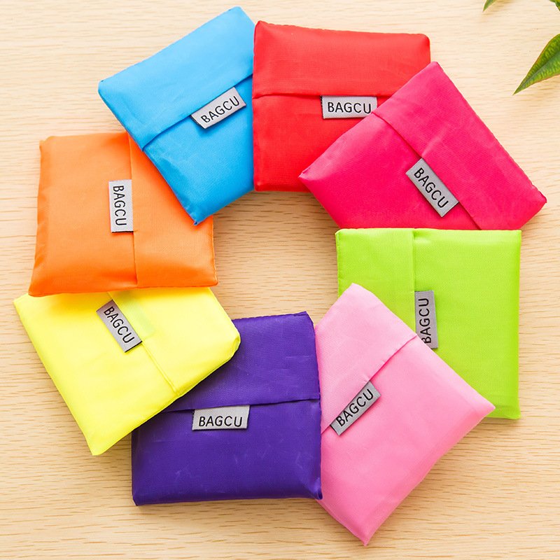 1 Pieces Portable Folding Shopping Bag Large Nylon Bags Thick Bag Foldable Waterproof Ripstop Shoulder Bag Handbag Free Shipping