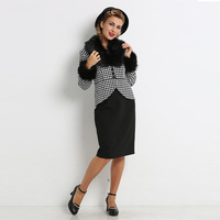 Sisjuly Vintage Dress 1950s Knee Length Women Sets Black Elegant Sheath Bodycon Autumn Sheath Retro Buttons
