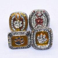 Падение доставка 4 шт./компл. Клемсон Тигры национальный чемпионат кольцо комплект