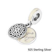 Аутентичные 925 Серебряные ювелирные изделия True Йога мотаться Мода Талисманы Бусины подходит Pandora Браслеты DIY Создание Оптовая