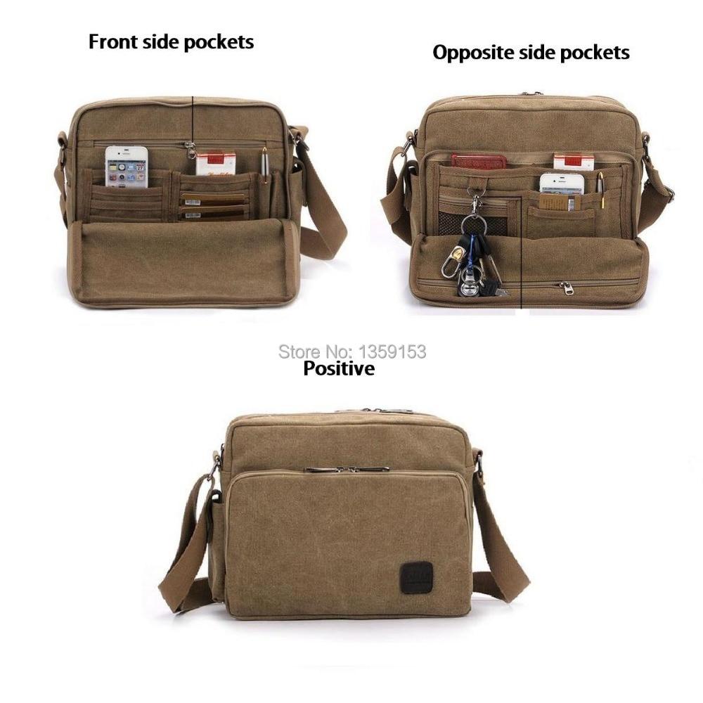 new 2015 fashion 2 Exterior Pockets Messenger Bag Men's Vintage ...