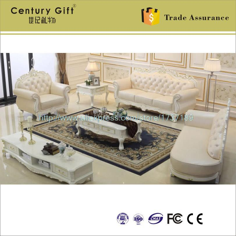 Factory direct leather sofa combination living room European-style home  decoration solid wood sofa brand sofa to buy wholesale - Factory Direct Living Room Furniture Promotion-Shop For
