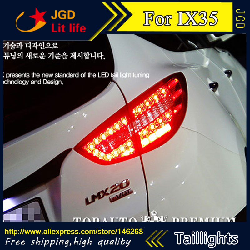 Car Styling tail lights for Hyundai ix35 2009-2012 LED Tail Lamp rear trunk lamp cover drl+signal+brake+reverse car styling tail lights for hyundai santa fe 2007 2013 taillights led tail lamp rear trunk lamp cover drl signal brake reverse