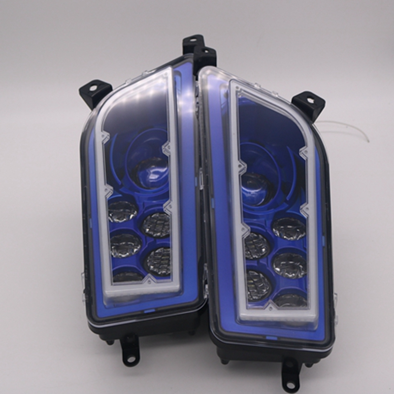 1 pair for Polaris RZR XP 1000 2013-2017 ORACLE Plasma Halo Headlight Kit - RGB L.E.D HALO RING.