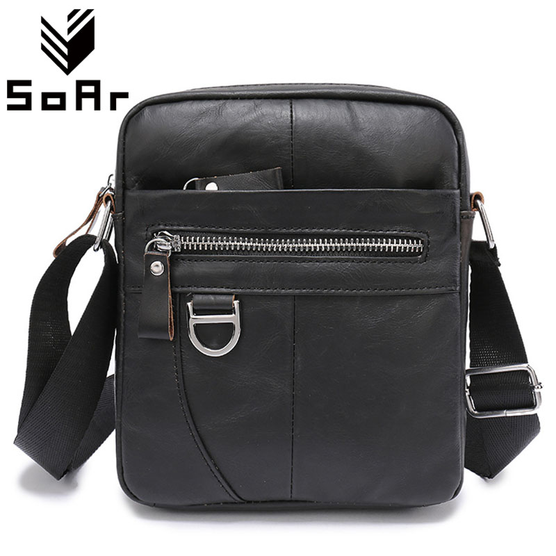 555188cbf Genuine Leather Famous Brands Men Bag Messenger Briefcase Vintage Shoulder  Bag Zipper High Quality Male Small Flap Black-in Crossbody Bags from  Luggage ...