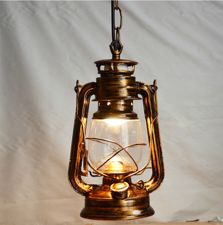 Antique Bronze Color Europe Retro Classic Kerosene Lantern Emergency Lamp Outdoor Camping Lamp Paraffin Lamp E27