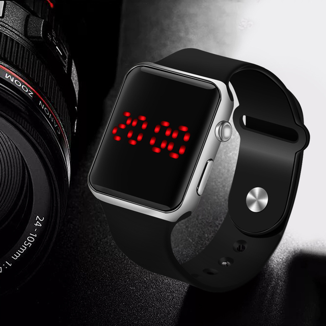 Hot Sale Sport Digital Watch Men Women Square LED Watch Silicone Electronic Watch LED Watches Electronic Clock relogio digital