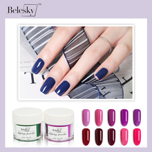BELESKY 10g/jar Dipping Powder Without Lamp Cure Nails Dip Gel Nail Color Natural Dry nail dipping system