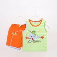 Été bébé vêtements set 2 pcs t-shirt Shorts bébé vêtements ensemble bébé garçon vêtements ropa de bebe menino pas cher vêtements Chine gros