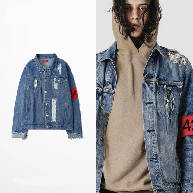 424 GD on water do old zipper armbands high street hole tassel FOG cowboy clothing jacket for men and women