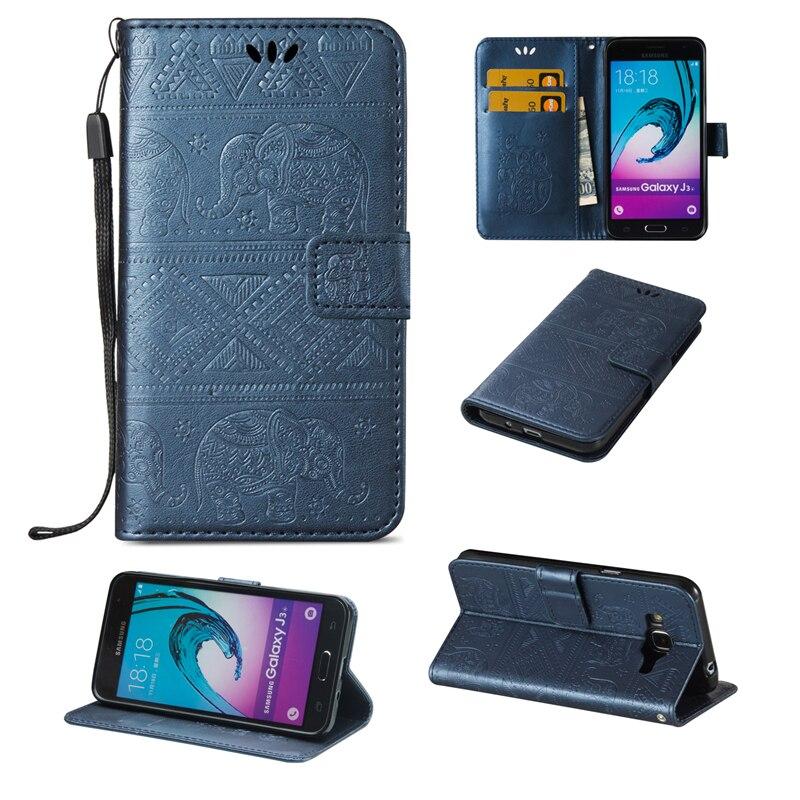 Galleria fotografica Coque Luxury Retro Case For Samsung j320 j320F Flip Wallet PU Leather Back Cover for Samsung galaxy j3 2016 sm-j320f Case Phone
