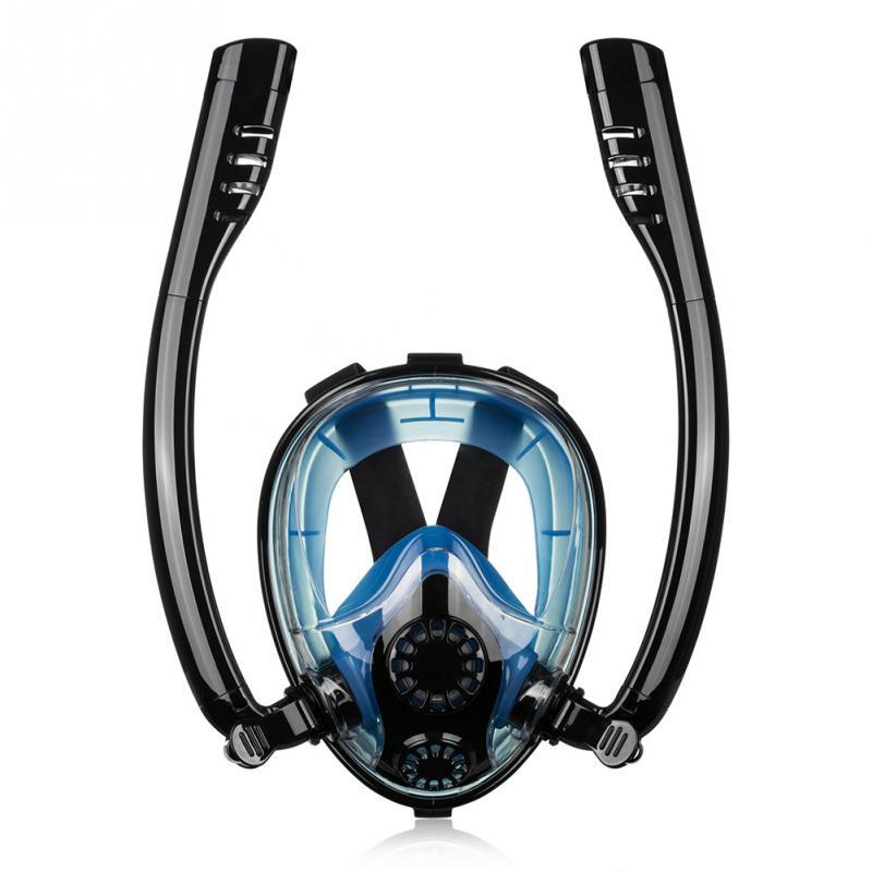 Snokel entraînement natation sous-marine visage complet Silicone outil de plongée étanche à sec Anti-buée masque de plongée Sports d'été