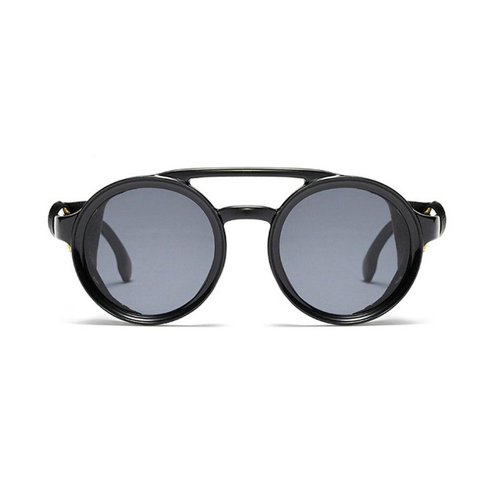 2019 New Style 2019 New Pu Leather Retro Rivet Round Punk Sunglasses Men Vintage Hip Hop Punk Shades Women Uv400 Nx