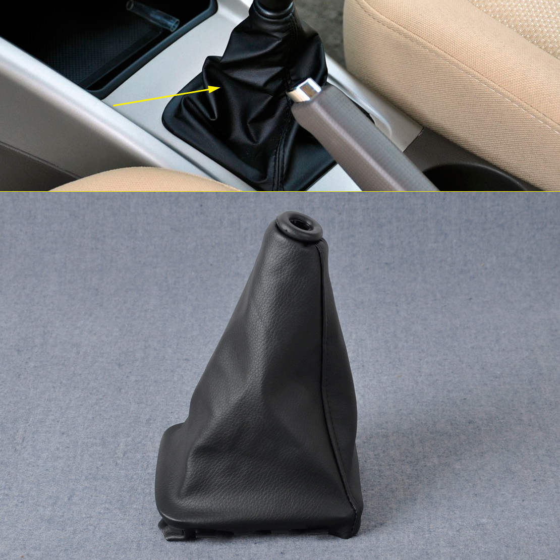 CITALL PU Leather Gear Stick Shift Knob Cover Boot Gaiter For 2000 2001 2002 2003 Hyundai Elantra/Avante XD ветровики korea hyundai elantra 2001 2006 avante xd sd
